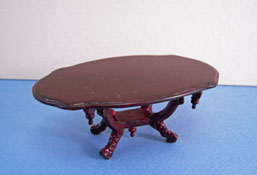 "1"" Scale Bespaq Mahogany Vintage Victorian Coffee Table"