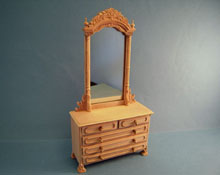 "Bespaq 1"" Scale ""Natchez"" Unfinished Dresser"
