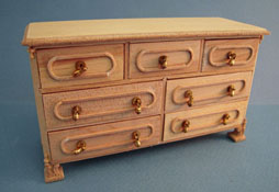 "Bespaq 1"" Scale ""Natchez"" Unfinished Chest Of Drawers"