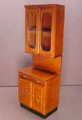 "1"" Scale Bespaq Walnut Provencial Small Kitchen Cabinet Unit"