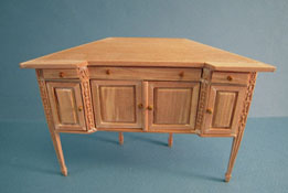 "Bespaq 1"" Scale Unfinished Rathbun Corner Buffet"