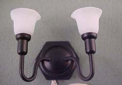 "1"" Scale Antique Black Double Wall Sconce"