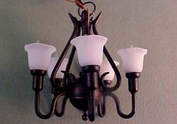 "1"" Scale Black Upright Tulip Chandelier"