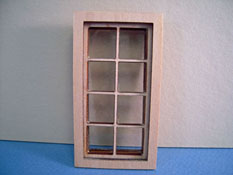 "Alessio Miniatures 1/2"" Scale Traditional Four Over Four Window"