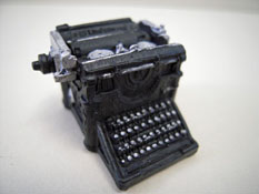 """1"""" Scale Resin Olde Time Typewriter"""