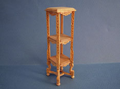 "1"" Scale Bespaq Unfinished French Plant Stand"