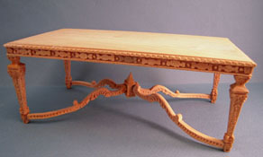 "1"" Scale Bespaq Unfinished Louis XIV Dining Table"