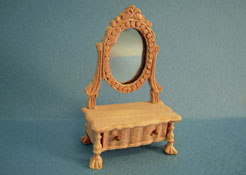 "1"" Scale Unfinished Bespaq Dressing Case with Mirror"