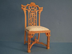 "Bespaq 1"" Scale Unfinished Chippendale Side Chair"