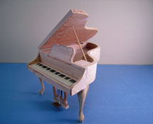 "Bespaq 1"" Scale Miniature Unfinished Grand Piano"