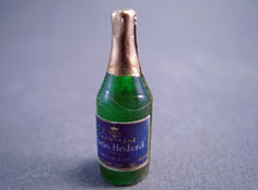 "1"" Scale Miniature Charles Heidsieck Bottle Of Champagne"