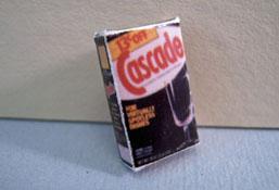 """1"""" Scale Miniature Box Of Dish Washing Powder"""