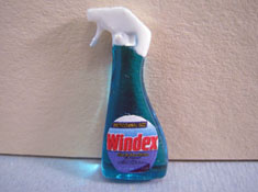 "1"" Scale Miniature Bottle Of Glass Cleaner"