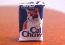 "1/2"" Scale Miniature Box Of Cat Chow"