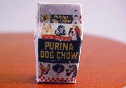 "1/2"" Scale Miniature Bag Of Dog Chow"