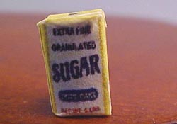"1/2"" Scale Miniature Five Pound Bag Of Sugar"