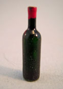 "1/2"" Scale Miniature Red Wine Bottle"