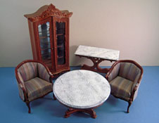 "Bespaq 1"" Scale Five Piece Walnut Du Ville Parlor Set"