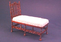 Bespaq 1&quot; Scale Wexburgh White Chaise