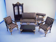 "Bespaq 1"" Scale ""Empire"" Limited Edition Black Seven Piece Living Room Set"