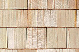 "1/2"" Scale Miniature Square Cedar Shake Shingles"