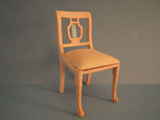 "1"" Scale Bespaq Unfinished Lyre Back Side Chair"