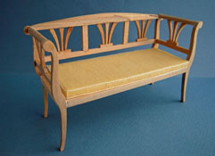"1"" Scale Bespaq Unfinished Empire Sofa or Hall Bench"