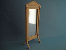 "1"" Scale Bespaq Unfinished Empire Standing Mirror"