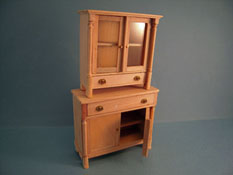 "1"" Scale Bespaq Unfinished Two Piece Biedermeier Cabinet Set"