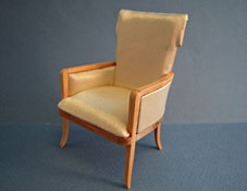 "1"" Scale Bespaq Unfinished Biedermeier Chair"