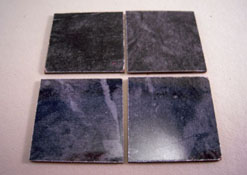 "Mini-Magic 1"" Scale Black Faux Marble Floor Tile"