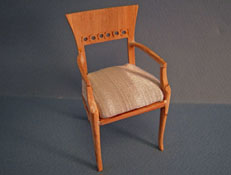 "1"" Scale Bespaq Unfinished Regency Arm Chair"