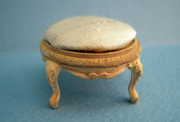 "Bespaq 1"" Scale Unfinished Louis XV Foot Stool"