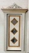 "Laser Dollhouse Designs 1/2"" Scale Miniature Three Diamond Custom Panel Single Door"