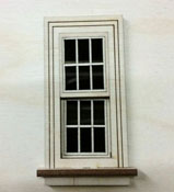 "Laser Dollhouse Designs 1/2"" Scale Miniature Plane Working Classic Window with Colonial Pane"