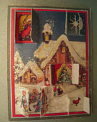 "Jacqueline's 1"" Scale Advent Calendar With Five Opening Doors"