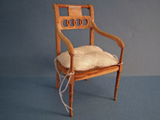"1"" Scale Bespaq Unfinished Hand Caned Regency Arm Chair"