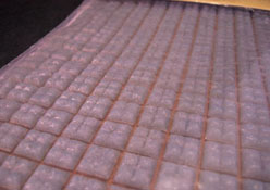 "Houseworks 1"" Scale Grey Glass Mosaic Flat Tile Sheet"