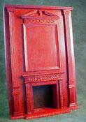 "Bespaq 1"" Scale Mahogany Fireplace Wall Unit"