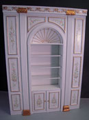 1&quot; Scale Miniature Bespaq Hand Painted White Manor Shelf Unit  