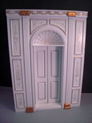 1&quot; Scale Miniature Bespaq Hand Painted White Manor Door Unit 