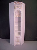 "1"" Scale Miniature Bespaq Hand Painted White Manor Corner Unit"