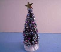 "1/2"" Scale 4 1/2"" High Decorated Christmas Tree"