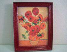 "Jacquelines 1"" Scale Van Gogh Sunflowers Framed Print"