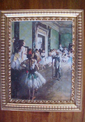 "Jacquelines 1"" Scale Degas Ballet Lesson Framed Print"