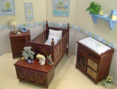 "Lee's Line 1"" Scale Ashley Blue Four Piece Spice Nursery Set"