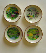 "By Barb 1/2"" Scale Four Piece Decorative Season Plates"