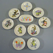 "By Barb 1/2"" Scale Ten Piece Decorative Easter Plates"