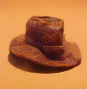 "Prestige Leather 1"" Scale Hand Crafted Old Cowboy Hat"