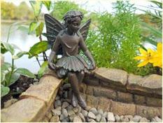 """Fairy Garden """"Evelyn Mae"""" Resin Fairy Doll"""